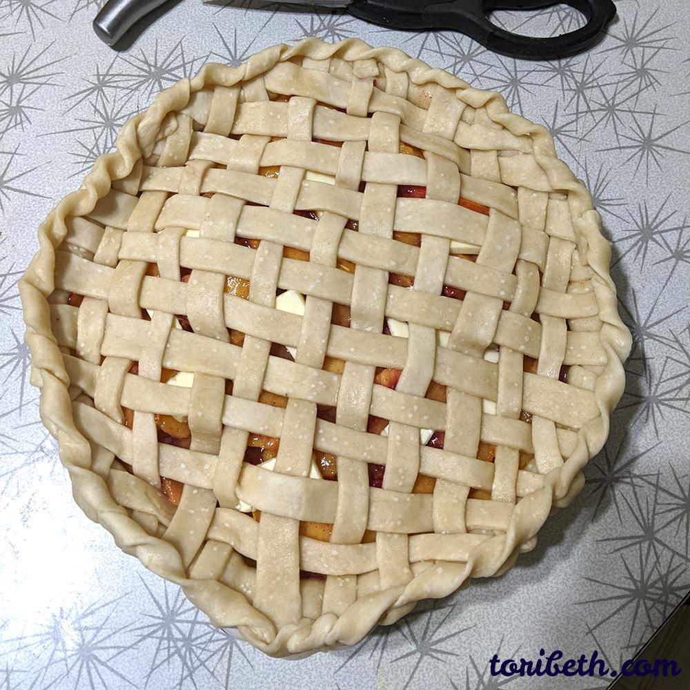 Unbaked Peach Pie